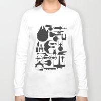 ships Long Sleeve T-shirts featuring Famous Sci Fi Ships by Ewan Arnolda