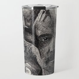 Gord Downie  Tribute Pen & Ink Drawing Travel Mug