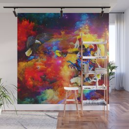 Dance with eagle Wall Mural