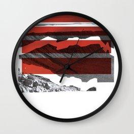 Red Terrain Wall Clock