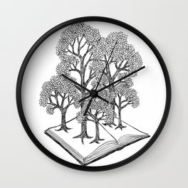Book Forest Wall Clock