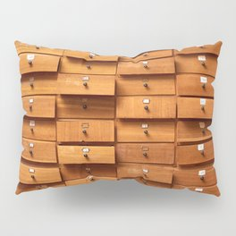 Wooden cabinet with drawers Pillow Sham