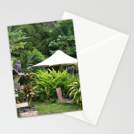 Fruit Stand in Tropical French Polynesia Stationery Cards