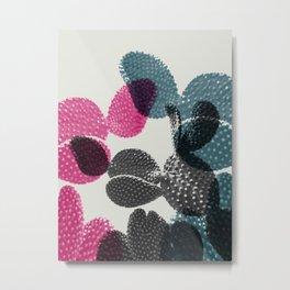 Tri-color cactus Metal Print
