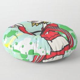 Graffiti Girl Floor Pillow