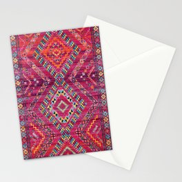 N118 - Pink Colored Oriental Traditional Bohemian Moroccan Artwork. Stationery Cards