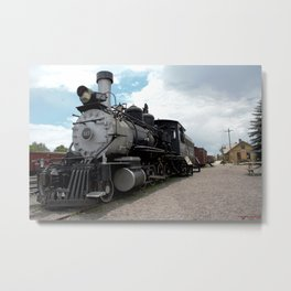 Train at Chama - The Denver & Rio Grande Western Metal Print