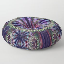 Artistic geometric graphic abstract design with textures Floor Pillow