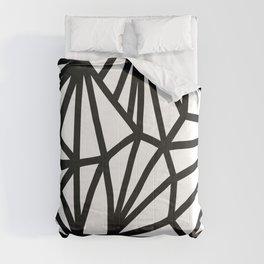 Modern Black and White geometric pattern #abstractart #decor Comforters