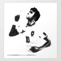 neymar Art Prints featuring NEYMAR by Aileen