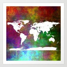 WORLD MAP #society6 Art Print