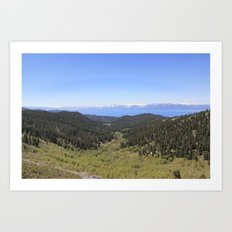 North Canyon Road Art Print