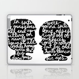 In Spite of Ourselves in Black and White Laptop & iPad Skin