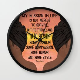 Serving, Ms. Angelou Wall Clock
