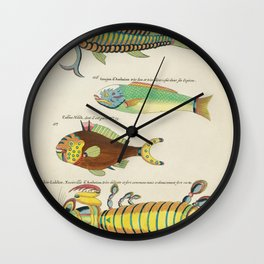 Colourful and surreal s of fishes and other marine life found in Moluccas (Indonesia) and the East I Wall Clock