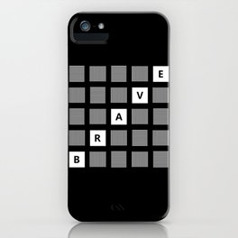 Brave Squares Abstract Text Art Design iPhone Case