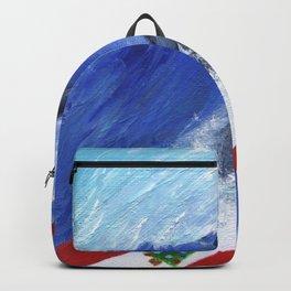 Christmas Surfing Weimaraner Backpack