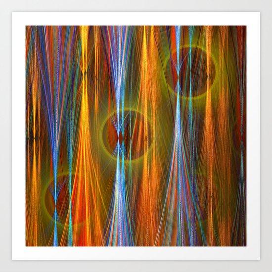 Mirthful, colourful abstract Art Print