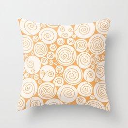 Still Waiting For Spring Bright Orange Pattern Throw Pillow