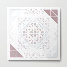 Tribal Hmong Embroidery Metal Print