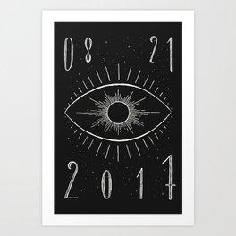 Total Eclipse (Dark) Art Print