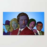 anchorman Canvas Prints featuring Anchorman by CultureCloth