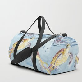Take A Breath Sea Turtle Duffle Bag