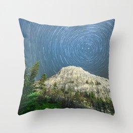 Star Trail Sky Throw Pillow