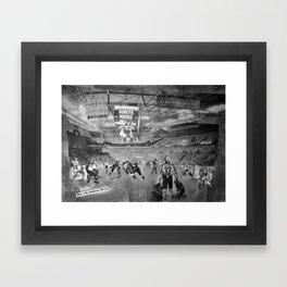 REMIX CITY: WHITEOUT Framed Art Print