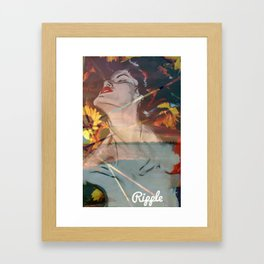 Ripple Rage Framed Art Print