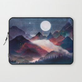 Mountain Lake Under the Stars Laptop Sleeve