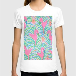 Flamingo Jungle Party Print T-shirt