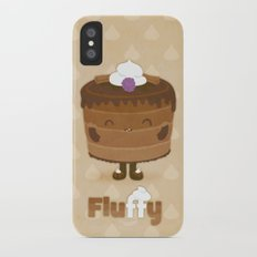 Fluffy Chocolate Mousse Cake Slim Case iPhone X