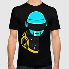 Daft Punk Mens Fitted Tee MEDIUM Black