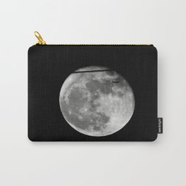 Airplane Passes 2016 Super Moon Carry-All Pouch