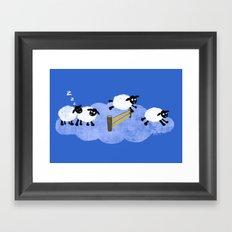 Counting Sheep Framed Art Print
