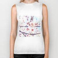 blossom Biker Tanks featuring blossom by Julia Kovtunyak