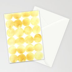 Imperfect Geometry Yellow Circles Stationery Cards