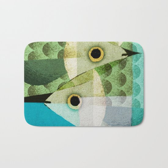 Fish Boxed Bath Mat