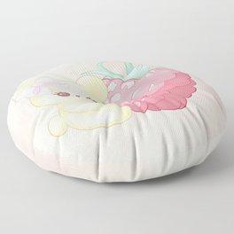 Raspberry Cutie Bear Floor Pillow