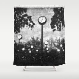 Clock Street Shower Curtain