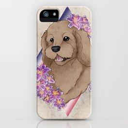 Doodle Pup Portrait iPhone Case