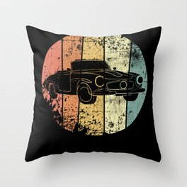 Classic Car vintage Throw Pillow
