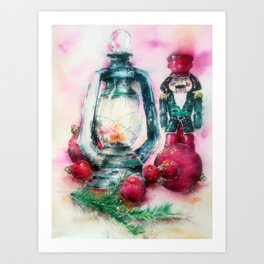 My Xmas Nutcracker  Art Print