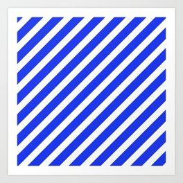 Basic Stripes Blue Art Print