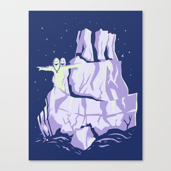 yeti titanic  Canvas Print