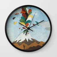 chile Wall Clocks featuring Norte de Chile by i am nito