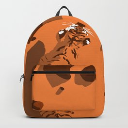 Tiger in the desert (global warming) Backpack