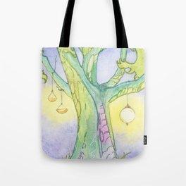Evening Tree Sprites Tote Bag