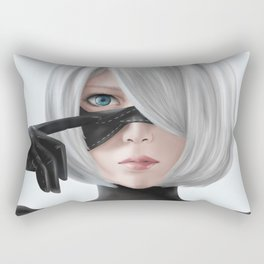 Nier Automata 2b fanart cosplay SesshuAsuak portrait Rectangular Pillow
